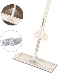 Mop & Clean Microfiber Mop with Integrated Sprayer
