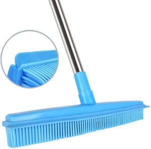 Push Broom Rubber Bristles Sweeper