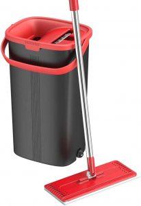 TETHYS Flat Floor Mop and Bucket Set